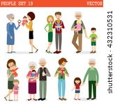 vector set of people with... | Shutterstock .eps vector #432310531