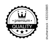 Premium Quality Badge On White...