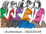 women gossip illustration | Shutterstock .eps vector #432320149