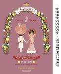 indian wedding bride   groom... | Shutterstock .eps vector #432324664
