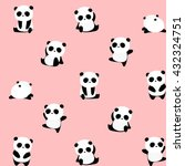 vector pattern  seamless panda...