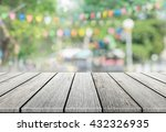 empty wooden table with blurred ... | Shutterstock . vector #432326935