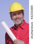 architect  contractor with hard ... | Shutterstock . vector #43233385