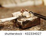 a handmade jeweler process ... | Shutterstock . vector #432334027