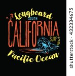 california surf typography  t... | Shutterstock .eps vector #432334675