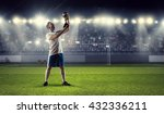 he is the champion | Shutterstock . vector #432336211