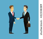 meeting of business partners.... | Shutterstock . vector #432338389
