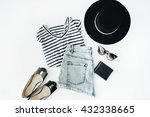 Woman Summer Clothes Collage O...