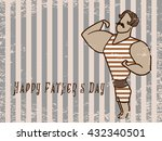 happy father's day flat vector...   Shutterstock .eps vector #432340501