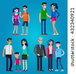 detailed character people.... | Shutterstock .eps vector #432340921