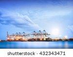 container cargo freight ship... | Shutterstock . vector #432343471