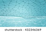 connected lines background  3d... | Shutterstock . vector #432346369