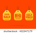 special offer sale tag discount ... | Shutterstock .eps vector #432347179