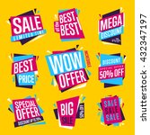 special offer sale tag discount ... | Shutterstock .eps vector #432347197