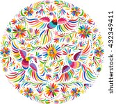 mexican colorful and ornate... | Shutterstock .eps vector #432349411