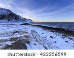 stony shoreline near eggum on...   Shutterstock . vector #432356599