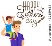 happy fathers day background | Shutterstock .eps vector #432359689