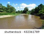 odra river on czech polish... | Shutterstock . vector #432361789