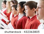 Small photo of Group Of Children Singing In School Choir