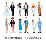 wedding couple isolated on... | Shutterstock .eps vector #432364681