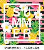 tropical background with... | Shutterstock .eps vector #432369325