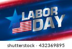 lettering labor day on the... | Shutterstock .eps vector #432369895