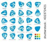 brasil summer games sport icon... | Shutterstock .eps vector #432372421