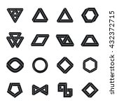 set of impossible shapes.... | Shutterstock .eps vector #432372715