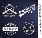 collection of hunting labels ... | Shutterstock .eps vector #432380245