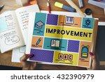 improvement advance motivation... | Shutterstock . vector #432390979