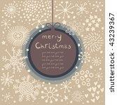 retro christmas card | Shutterstock . vector #43239367