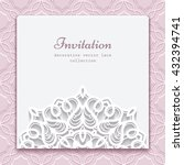 elegant invitation card with... | Shutterstock .eps vector #432394741