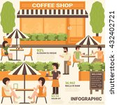 coffee shop infographic... | Shutterstock .eps vector #432402721