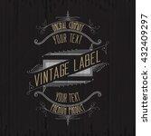 vintage typographic label... | Shutterstock .eps vector #432409297