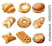 bakery and pastry products.... | Shutterstock .eps vector #432422371