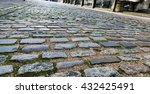 Old Cobble Stone Road Lined...