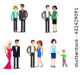 detailed character people... | Shutterstock .eps vector #432429091