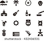 cuba icons | Shutterstock .eps vector #432436531
