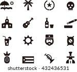 cuba icons | Shutterstock .eps vector #432436531