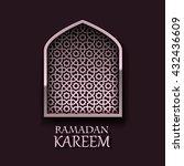 ramadan kareem cover  ramadan... | Shutterstock .eps vector #432436609