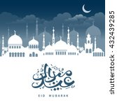 eid mubarak greeting with... | Shutterstock .eps vector #432439285