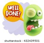 3d rendering smile character...   Shutterstock . vector #432439501