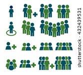 team work  crowd icon set | Shutterstock .eps vector #432439531