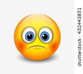 cute sad emoticon  emoji ... | Shutterstock .eps vector #432443851
