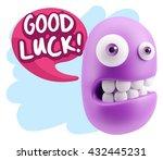 3d illustration laughing... | Shutterstock . vector #432445231