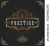 vintage art deco frame for... | Shutterstock .eps vector #432446245