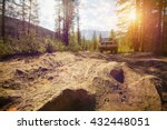 offroad in wild mountains.... | Shutterstock . vector #432448051