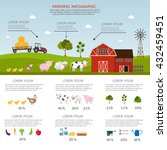 big set of vector farm elements ... | Shutterstock .eps vector #432459451