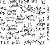 pattern summer handwritten... | Shutterstock .eps vector #432461614