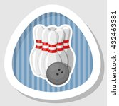 bowling colorful icon | Shutterstock .eps vector #432463381